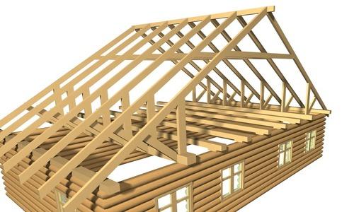 Двускатная стропильная крыша